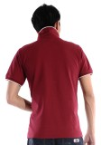 重庆紫红赛尔纯棉拉架珠地素色POLO衫定做