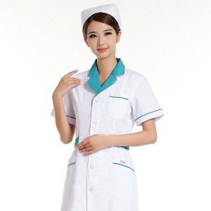 护士服药店工作服职业装夏款装白色粉色兰色短袖半袖XBL定做