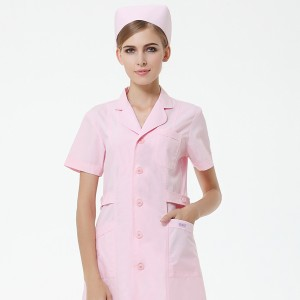 包邮护士服短袖粉色白色美容院医院药店工作服夏装薄款牙科口腔服定做