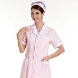 护士服短袖夏装西服领医用药店工作服不起球H18前台导医服定做