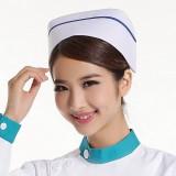 新款护士帽子白蓝粉红色护士四季帽子MZ-01特价定做