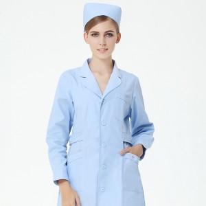 秋冬女装医院药店护士服加厚长袖装白蓝粉色大码促销定做