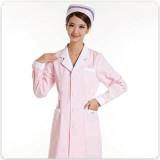 新款促销护士服长袖粉色冬装白色蓝色加厚美容服药店服定做