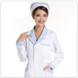 护士服长袖白色冬装制服白大褂长袖女加厚上衣药店工作服定做