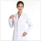 女医生服卫校实验服护士服长袖白色冬装药店服白大褂定做