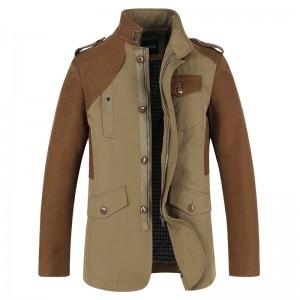 定做商业夹克新款男装夹克中长款男士外套春秋装夹克衫男装休闲定做