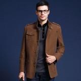 定做商业夹克新品秋装男士中长款商务休闲夹克衫男装夹克外套定做