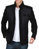 定做商业夹克男装秋冬装新款男士夹克加厚秋装中年休闲羊毛呢外套男定做