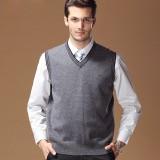 定做男装毛衣秋冬新款V领羊毛坎肩商务马甲男士羊毛衫背心定做