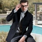 定做男装大衣男装男士冬装羊绒羊毛呢大衣冬季水貂毛领外套中长款定做