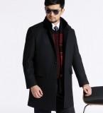 定做男装大衣男装羊绒大衣男士羊毛呢大衣中长款羊毛大衣男装毛大衣定做