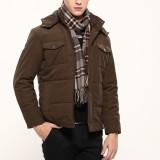 定做冬装棉衣新款男士加厚多口袋休闲商务夹克防寒棉服外套定做