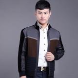 定做秋冬季新款韩版中青年男士装时尚休闲针织保暖薄棉衣夹克外套短定做