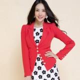 定做小重庆西装女女装秋季新款修身雪纺重庆西服单排扣外套定做