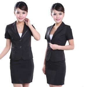 定做新款重庆西服OL女士正装重庆西装酒店工作服套装修身工装面试装定做