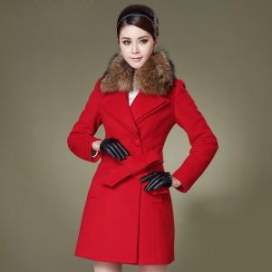 定做冬装新款韩版OL修身女装秋冬羊毛呢大衣呢子外套定做