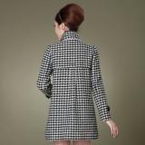 定做冬装新款韩版OL修身女装秋冬立领毛呢外套呢子大衣定做