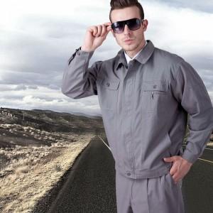 全棉长袖工作服套装男劳保厂服电工电焊工服工程服汽修服定做