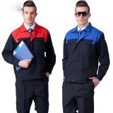 长袖工作服套装男工程服管理员电焊工衣厂服劳保服装定做定做