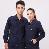 新款黑蓝色涤棉工作服套装秋冬装车间工装厂服定做