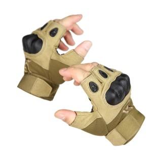 自由兵户外军迷战术盔甲半指低调防护手套我是特种兵3手套定做