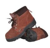 防砸耐油耐酸碱耐高温防静电反绒牛皮安全鞋巧克力防护棉鞋定做