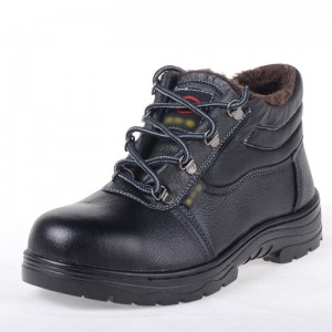 冬季保暖劳保鞋安全鞋防砸防穿刺工作鞋男女棉鞋钢包头层皮定做