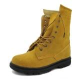 钢头安全防护鞋耐高温轮胎底反绒防砸钢头高帮工作鞋劳保鞋工地鞋定做