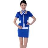 重庆前台领班制服职业酒店工作服套装空姐服短袖套裙定做