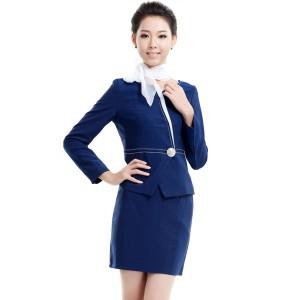 重庆2女士新款职业套装酒店工作服冬装美容工作服长袖定做