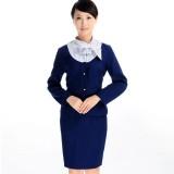 重庆巴士航空铁路制服酒店工作服套装女前台服务员工作服长袖新款定做