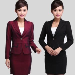 重庆OL职业套装女装秋装女士正装西服套装西装套裙韩版时尚工作服定做