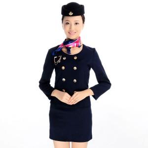 工作服秋冬装空姐制服职业套装前台收银制服美容师工作服定做