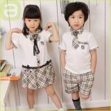 重庆新款儿童夏装韩版英伦学院风幼儿园服班服学生校服表演出服定做