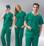 洗手衣了墨绿手术衣手术室洗手衣护士裤病号服特价定做