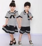 重庆厂家直销小学生夏季校服儿童演出服幼儿园园服海军服夏装套装定做