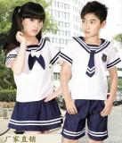 重庆儿童校服小学生夏季校服套装幼儿园园服夏装海军服定做定做