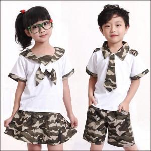 重庆中小学生校服班服迷彩服幼儿园园服夏装六一演出服定做
