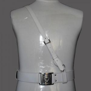 重庆白色保安腰带/武装腰带/礼仪皮带/乐队腰带/演出配饰定做