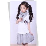 重庆小学生校服夏装潮新款韩版幼儿园园服校服儿童休闲套装定做