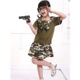重庆中小学生校服套装迷彩服儿童海军服夏装演出服军训服定做