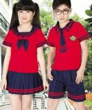 重庆中学小学生夏季校服班服幼儿园园服夏装套装演出服定做