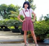 重庆初中学生校服秋装女套装定做