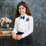 重庆英伦童装儿童衬衣女大童纯棉长袖衬衣学生童衬衫定做