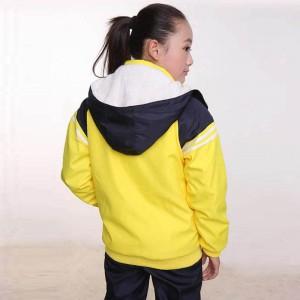重庆中学生高中生初中生校服加厚秋冬款校服运动休闲班服羊羔绒款定做