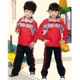 重庆小学生校服运动套装幼儿园园服秋冬装款儿童套装红蓝批发定制定做