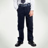 重庆儿童装英伦男童纯棉藏青色休闲长裤新款定做