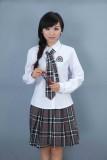 重庆初中高中学生校服韩版校服班服女生格子裙制服套装定做