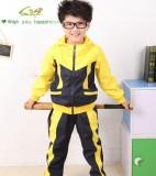 重庆厂家直秋冬拼韩国绒运动休闲带帽学生校服套装定做