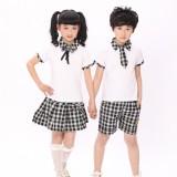 重庆中学生校服学生服装六一合唱表演出服夏季套装批发定做